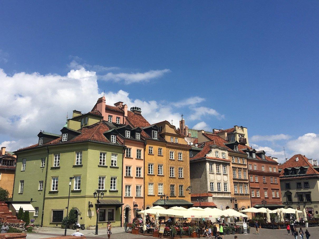 Farbenprächtige Altstadt von Warschau