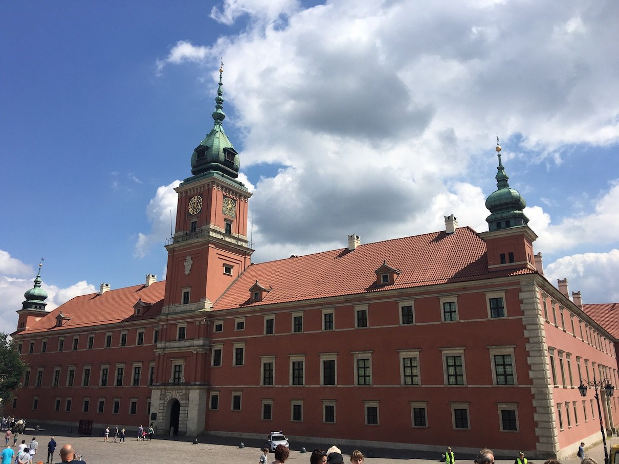 Warschauer Königsschloss von außen