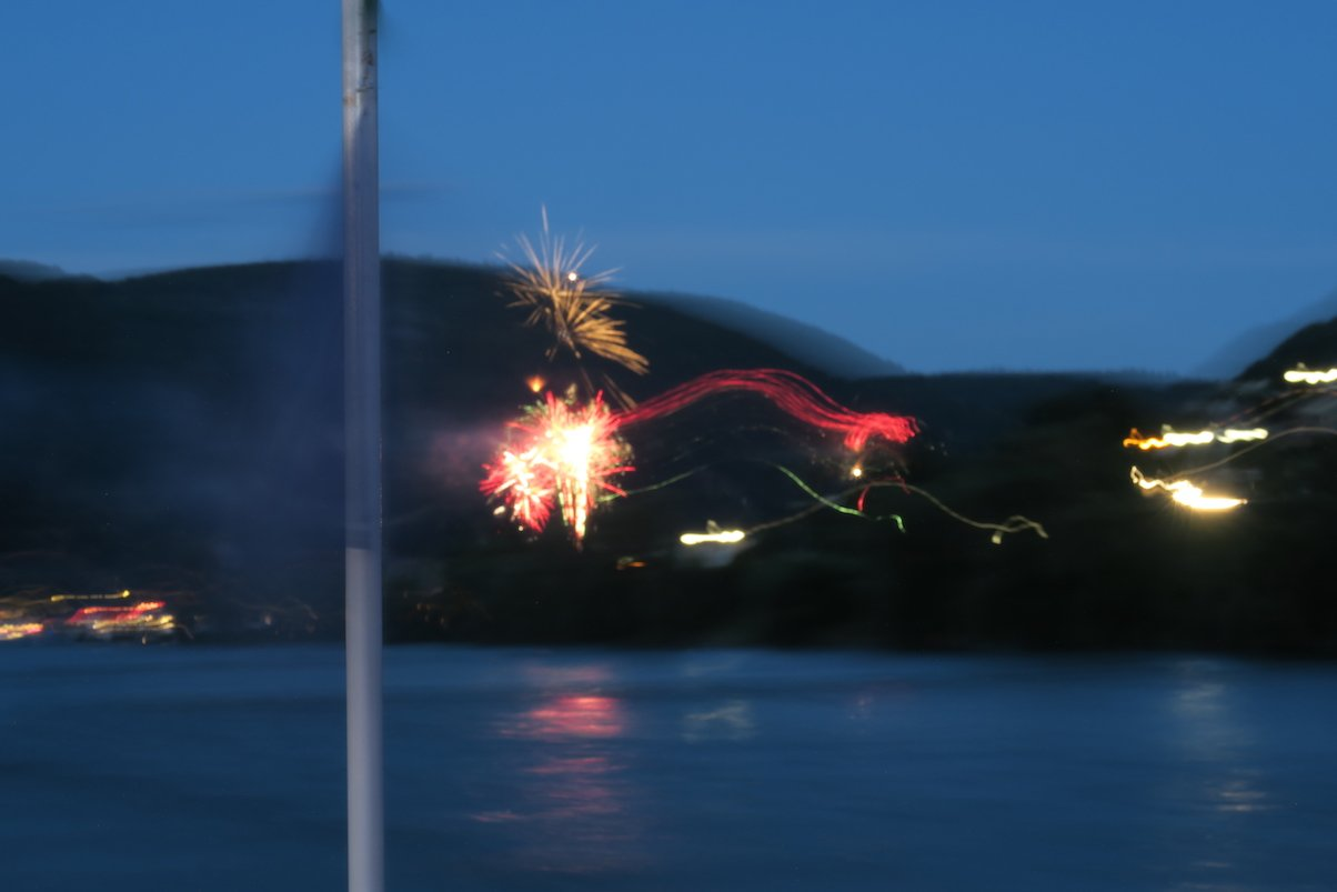 Feuerwerk Foto komplett mißraten...