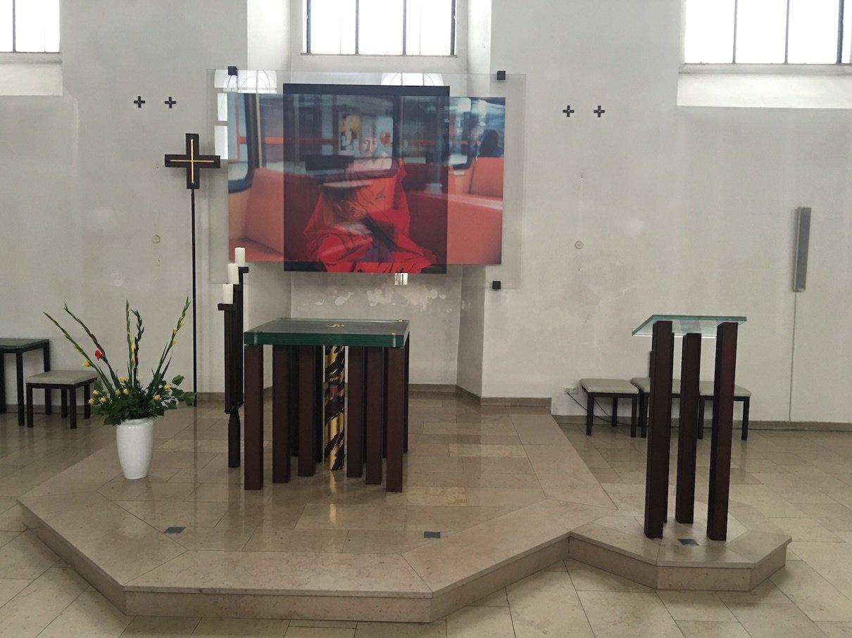 Altar in der Kapuziner Kirche St.Laurentius in Bingen