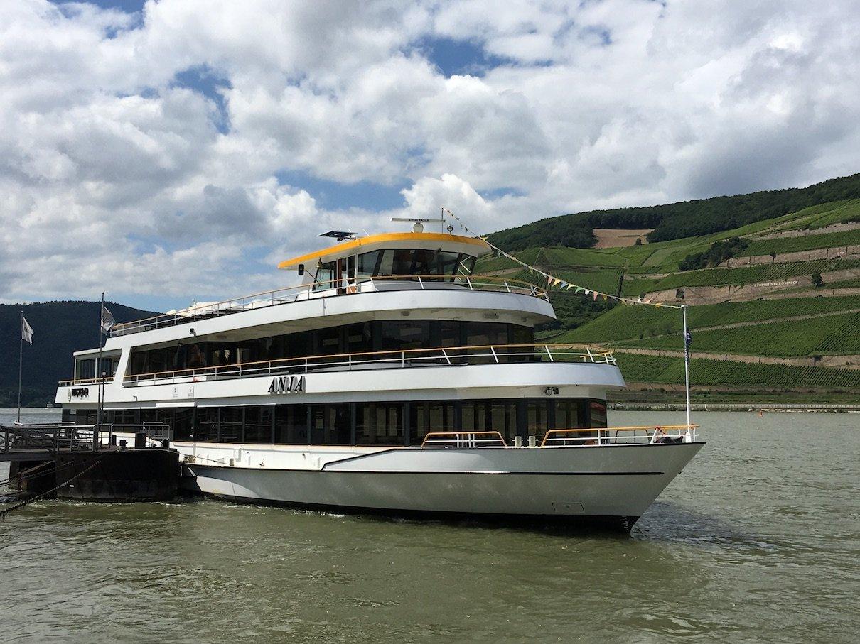Die MS Anja, auf der wir Rhein in Flammen in Bingen 2016 verbringen werden
