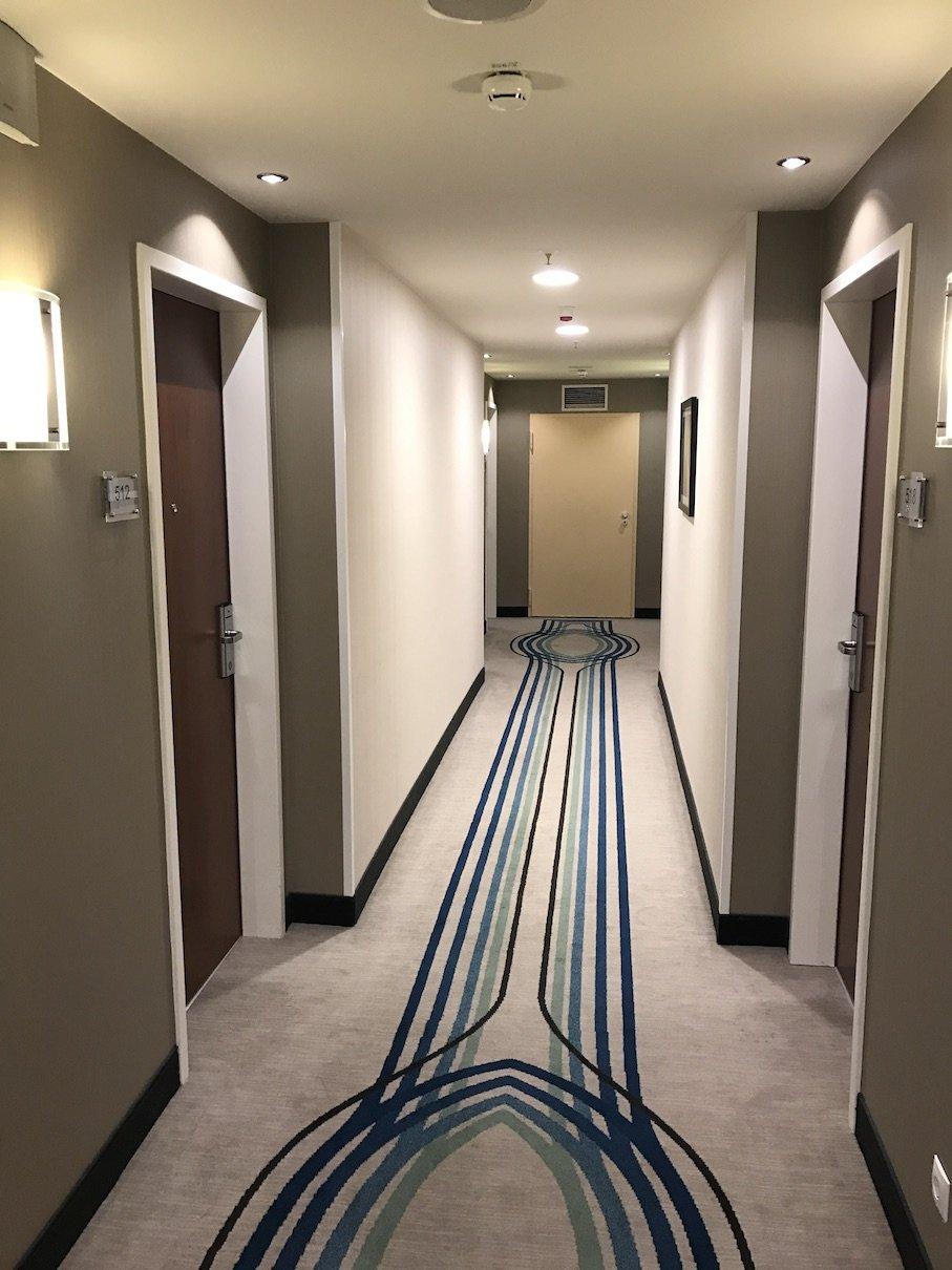 Flur zu unserem Zimmer im 5. Stock