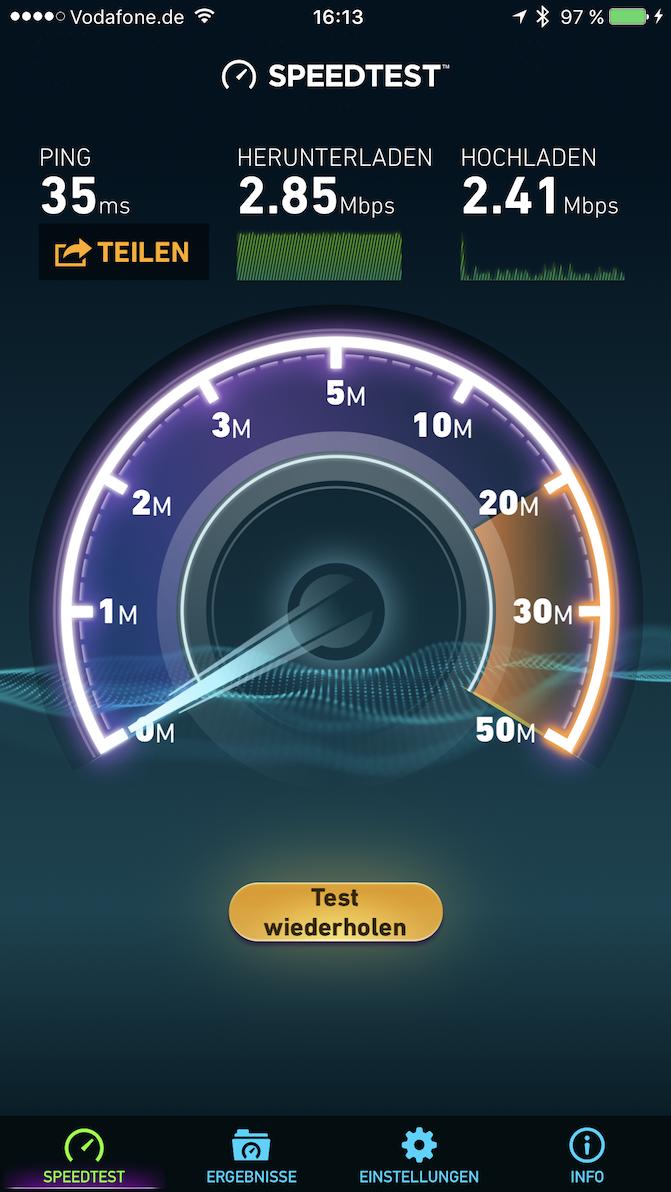 Screenshot zur kostenlosen WLAN Anbindung im Courtyaed by Marriott München Ost