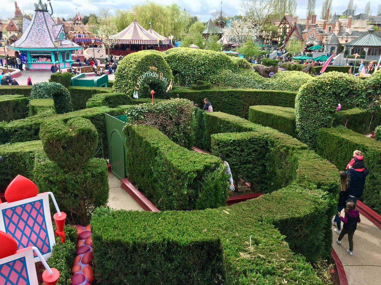 Das Labyrinth aus Alice im Wunderland