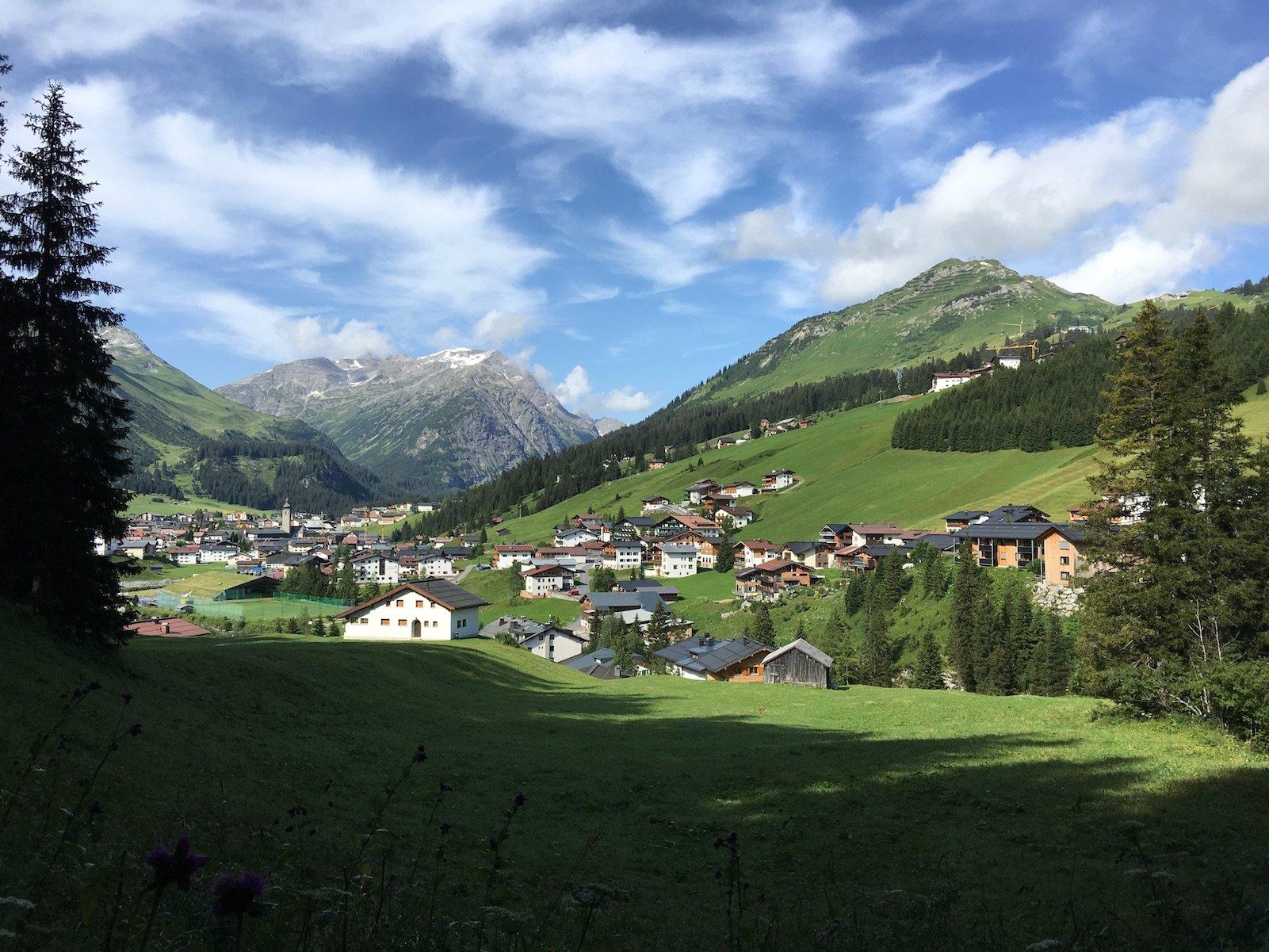 Toller Blick zurück nach Lech