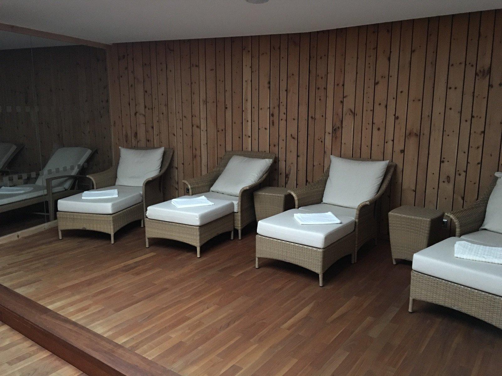 Erholungsbereich im Spa im Hotel Aurora Lech