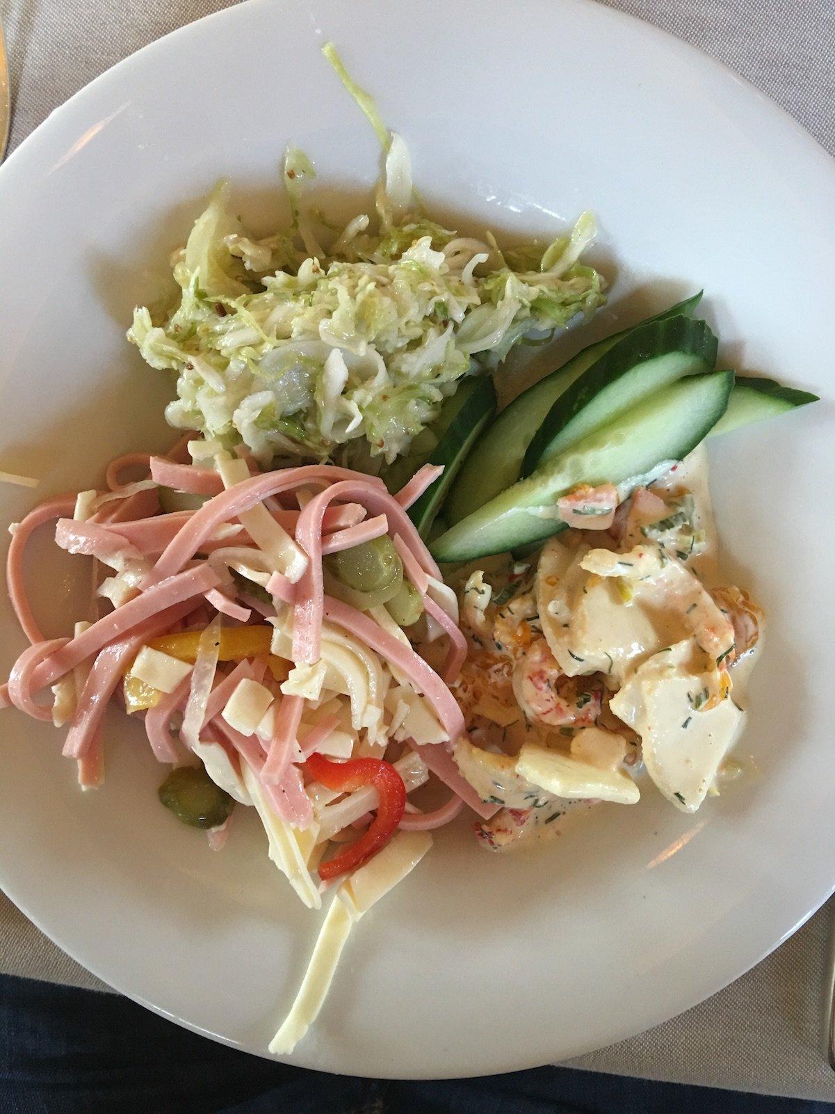 Eine kleine leckere Auswahl vom Salatbuffet