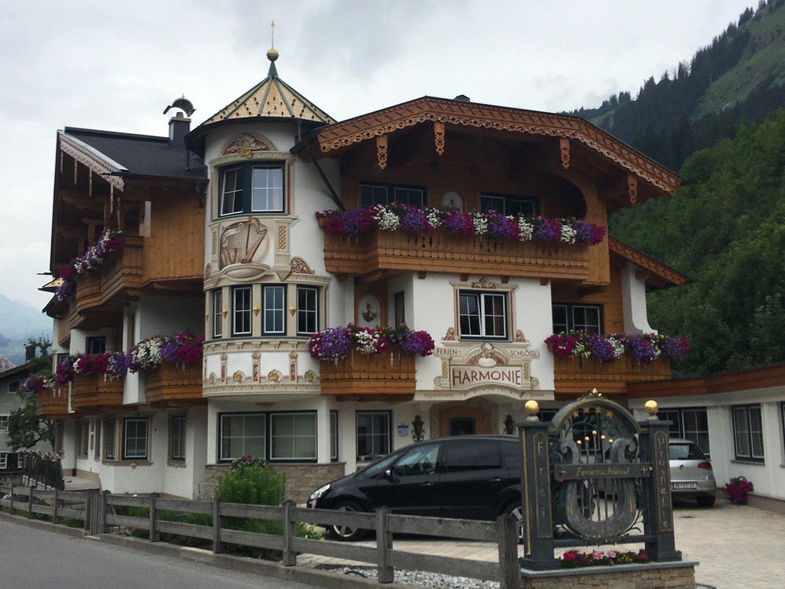 Ferienschlössl Harmonie, meine Unterkunft nach dieser Etappe in Holzgau