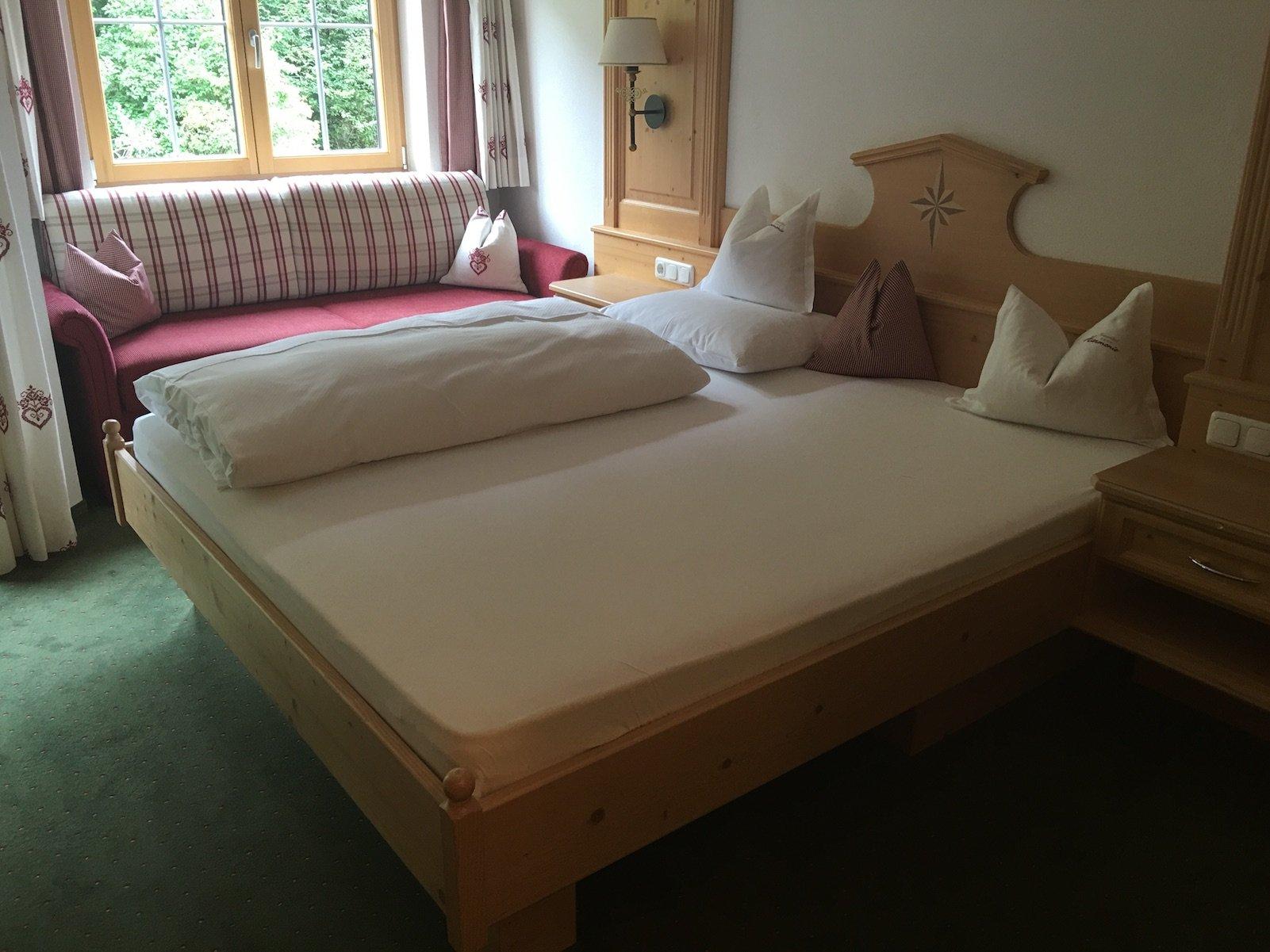 Mein Bett im Ferienschlössl Harmonie