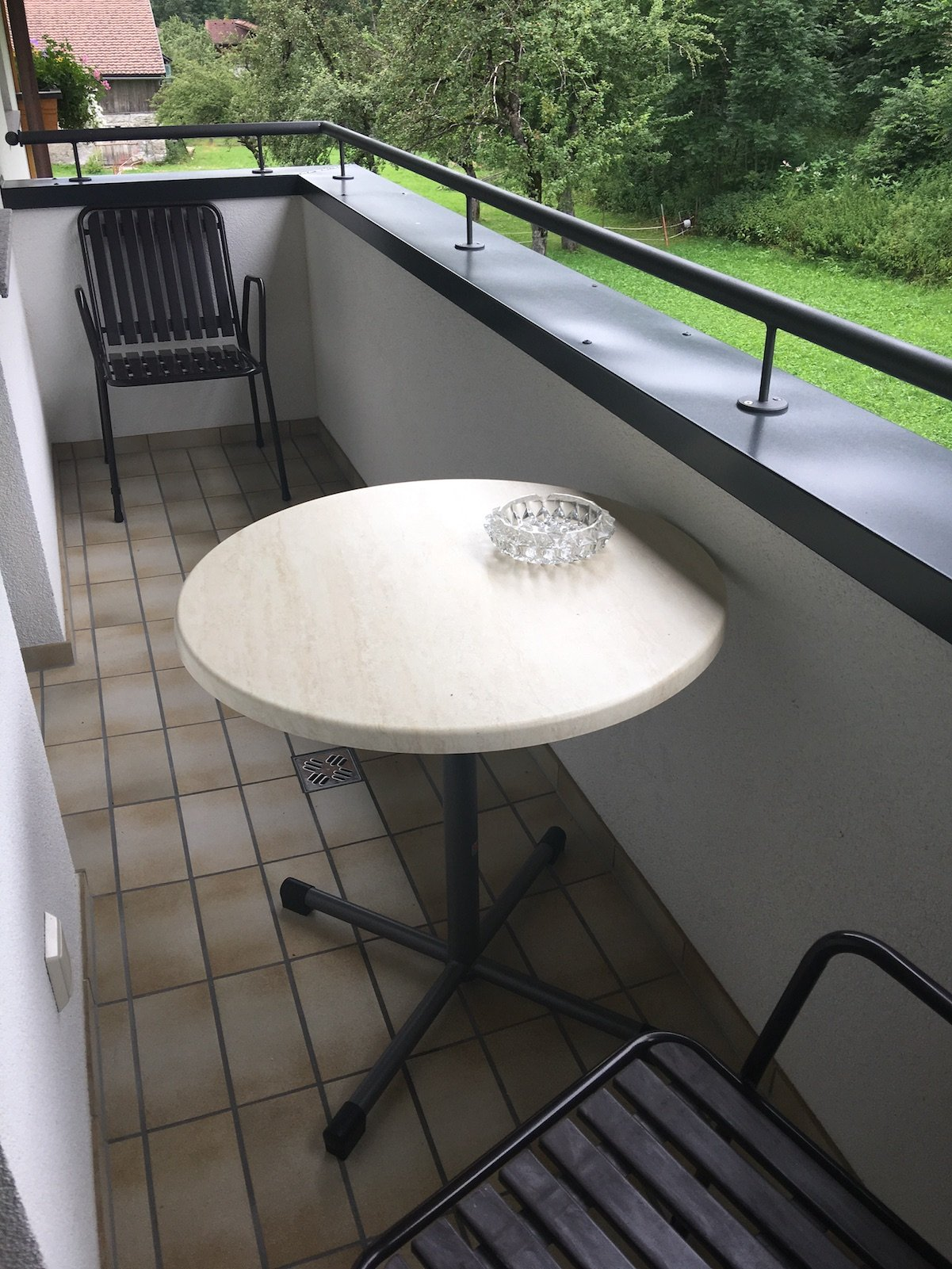 Balkon meines Zimmers im Ferienschlössl Harmonie