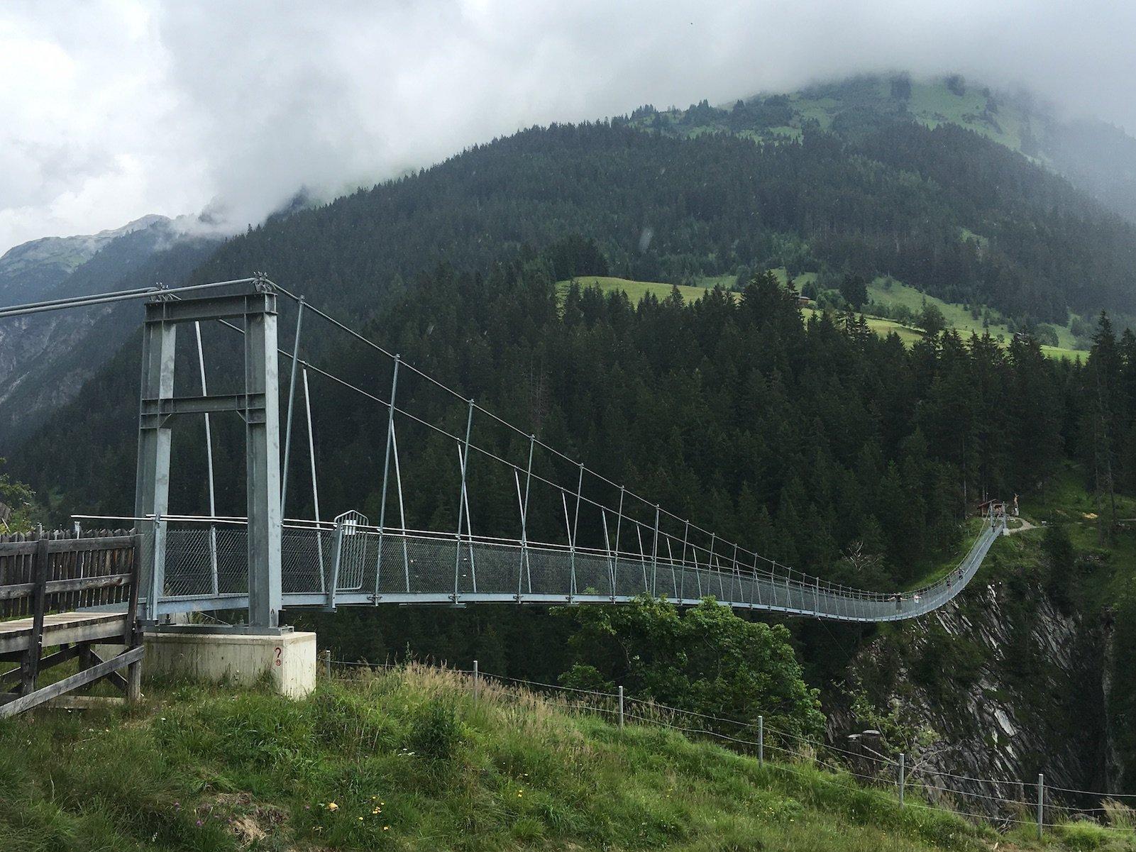 Hängebrücke Holzgau am Lechweg