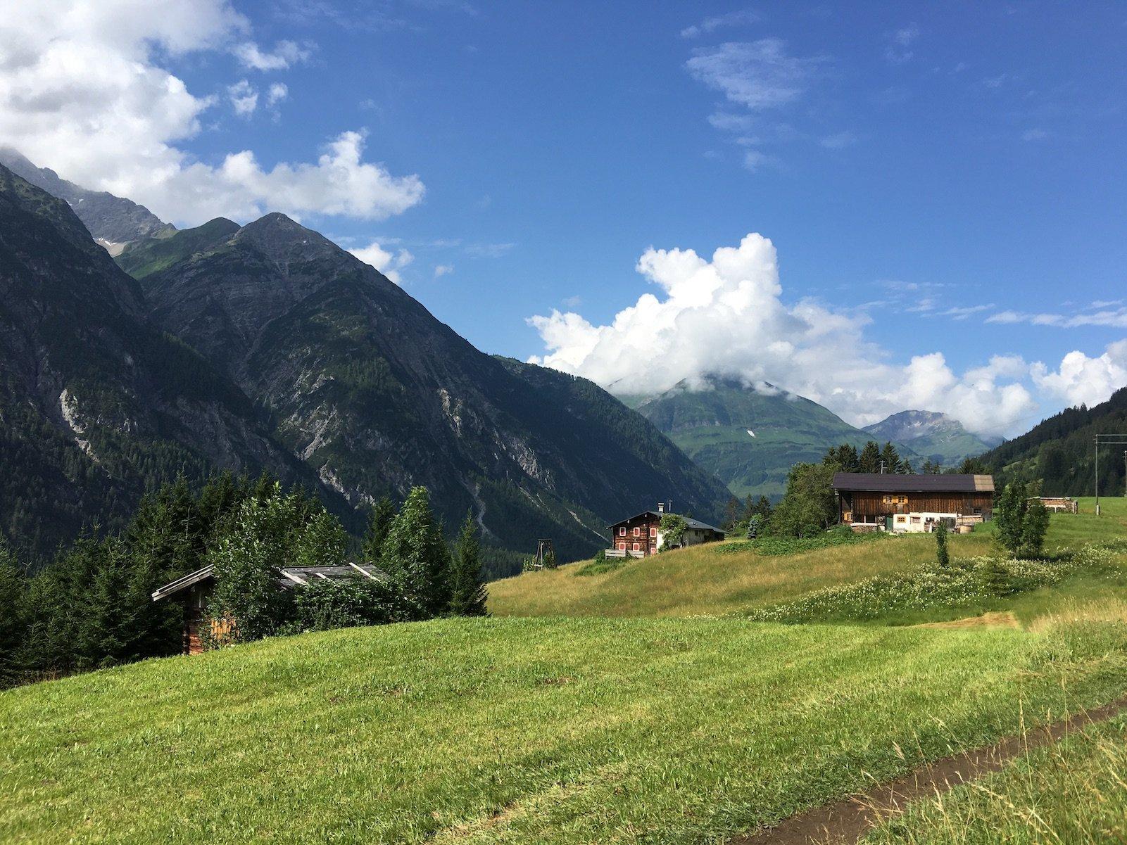 Schöner Ausblick oberhalb von Holzgau