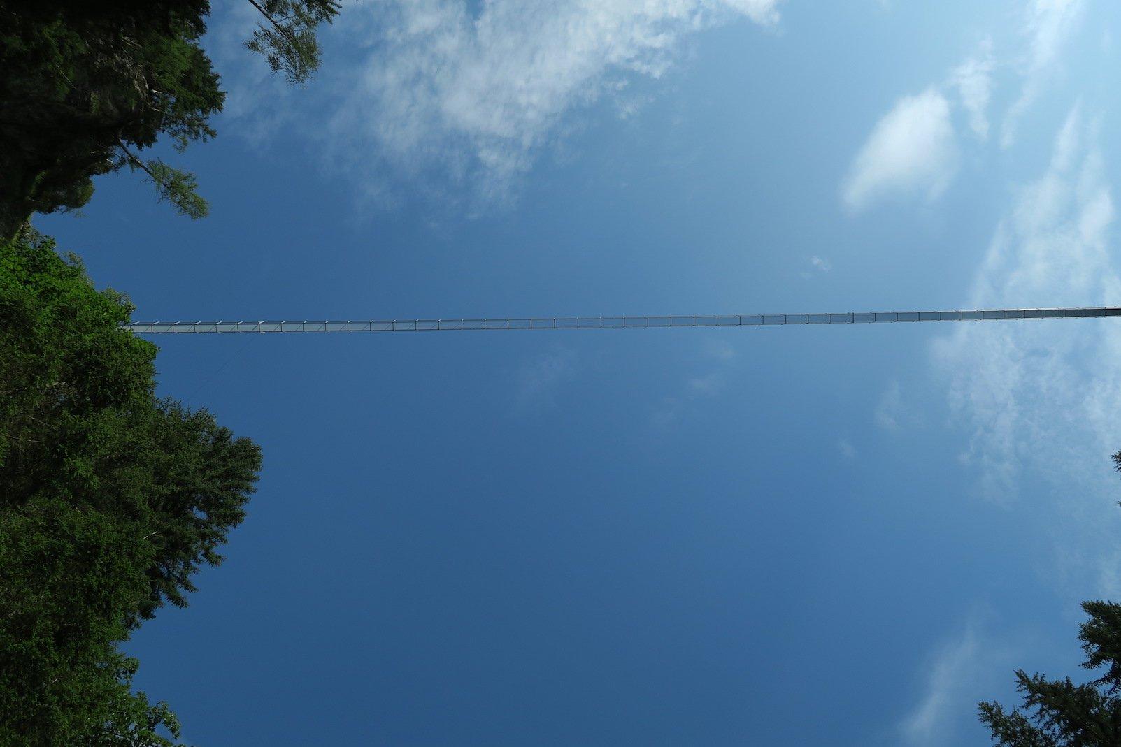 Verdammt, ist das hoch... die Hängebrücke in Holzgau direkt über mir