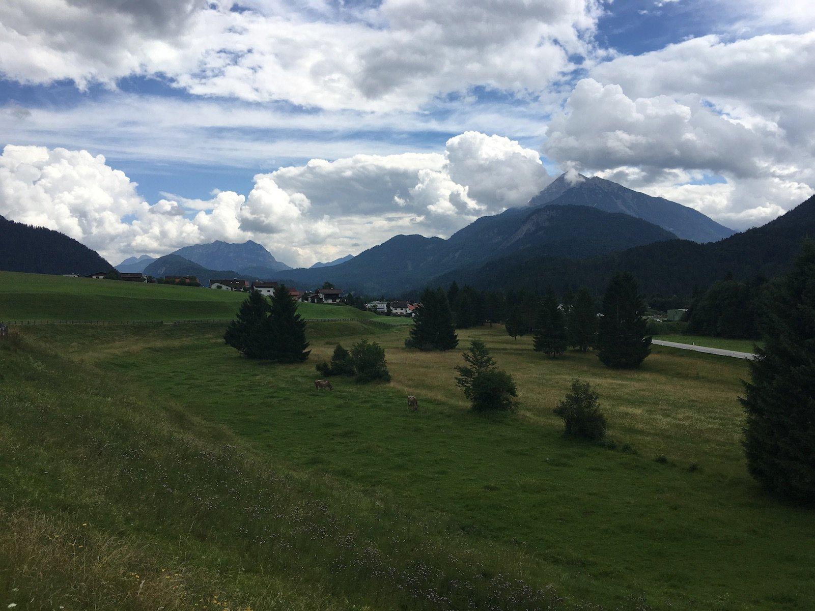 Bergpanorama auf dem Lechweg