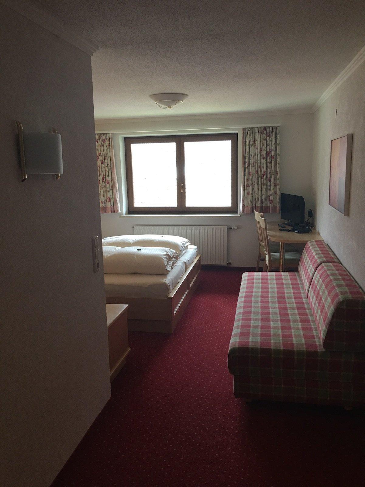 Mein erster Blick in mein Zimmer im Hotel Landgasthof Lilie