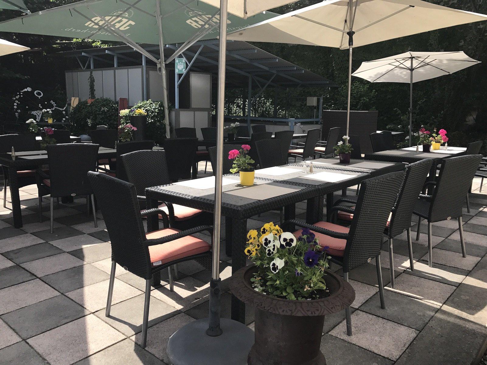 Terrasse des H4 Hotels Bayreuth