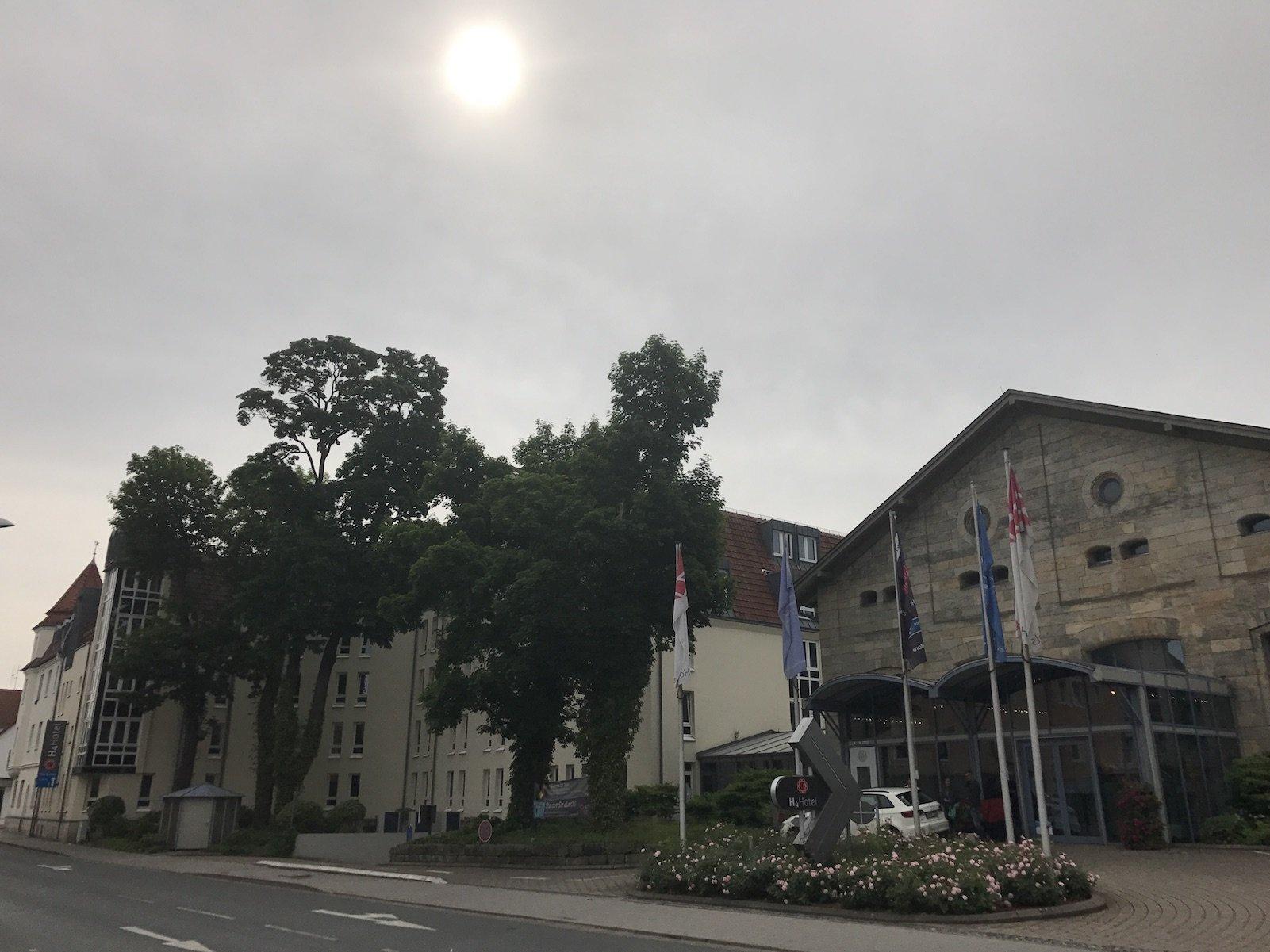Eingangsbereich des H4 Hotels Residenzschloss Bayreuth