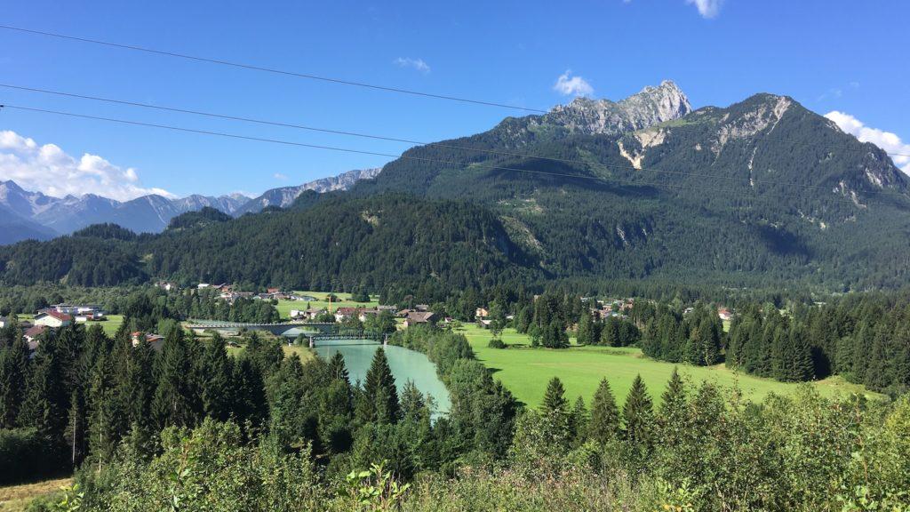 Panorama schon nach kurzer Zeit auf der 8. Etappe des Lechwegs