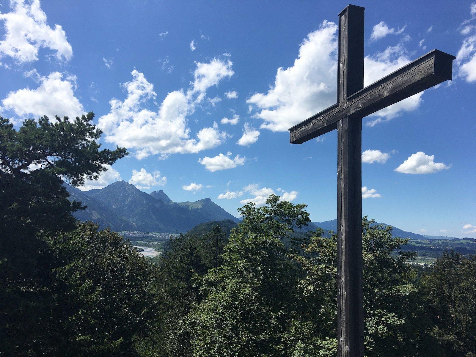 Gipfelkreuz auf dem Kalvarienberg