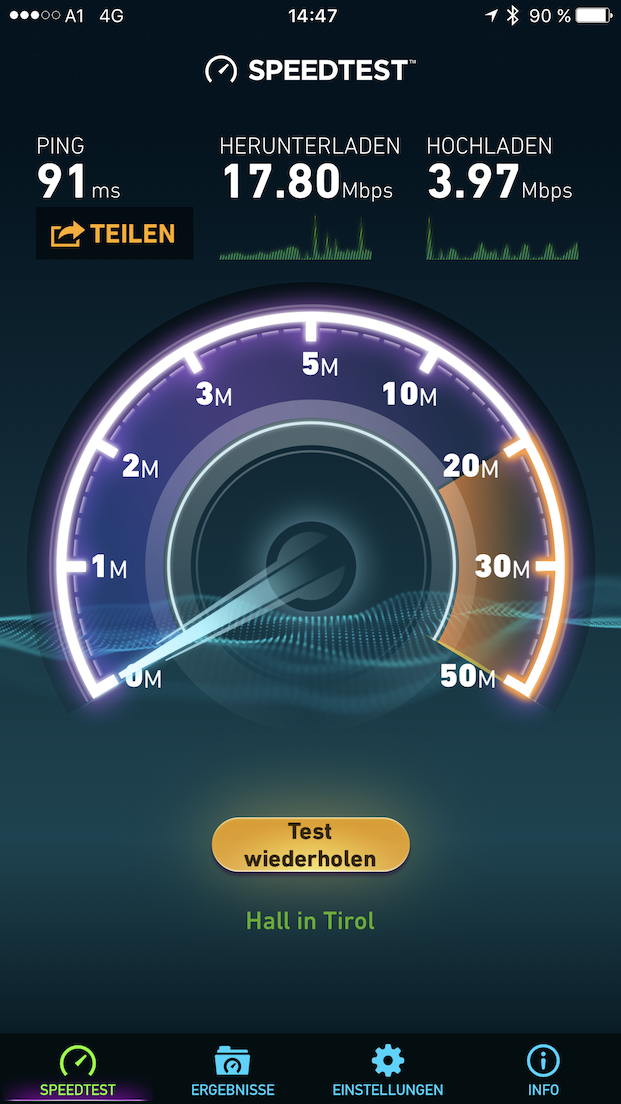 Screenshot WLAN im 4Rest Hotel Hall