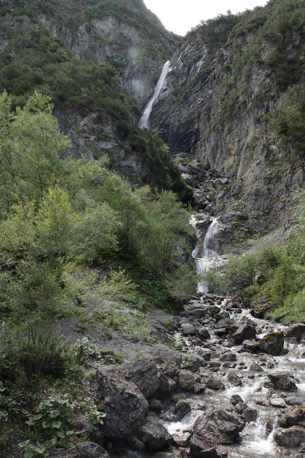 Schreitenbach Wasserfall kurz vor (oder nach, je nach Wanderrichtung) Steeg