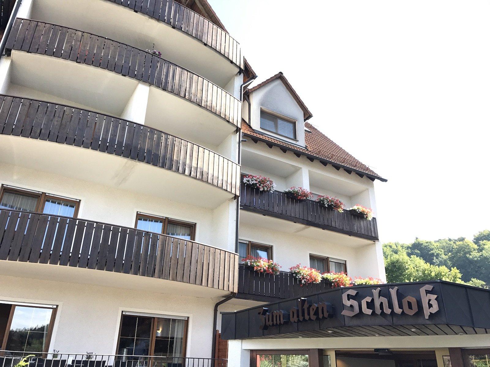 Ein Teil des Landidyll Hotels Zum Alten Schloß von außen
