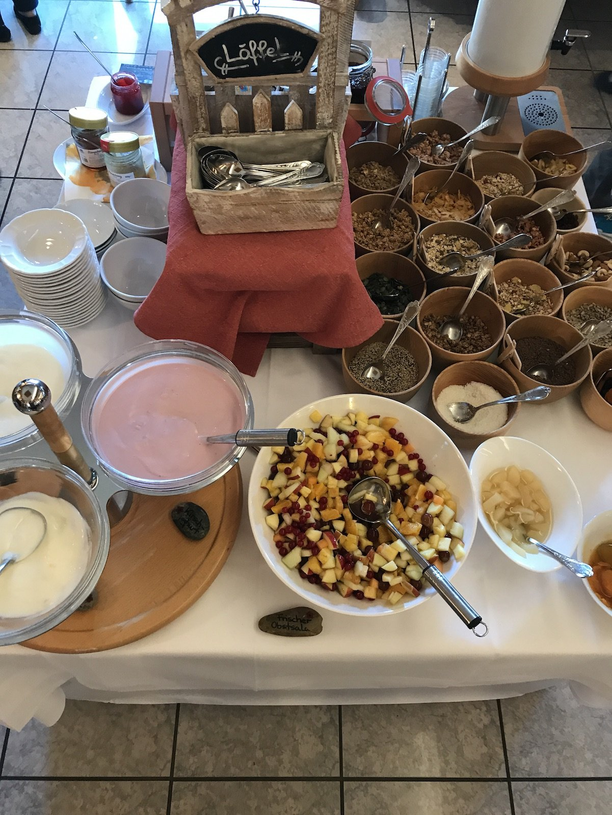 Jogurt und Co. zum Frühstück