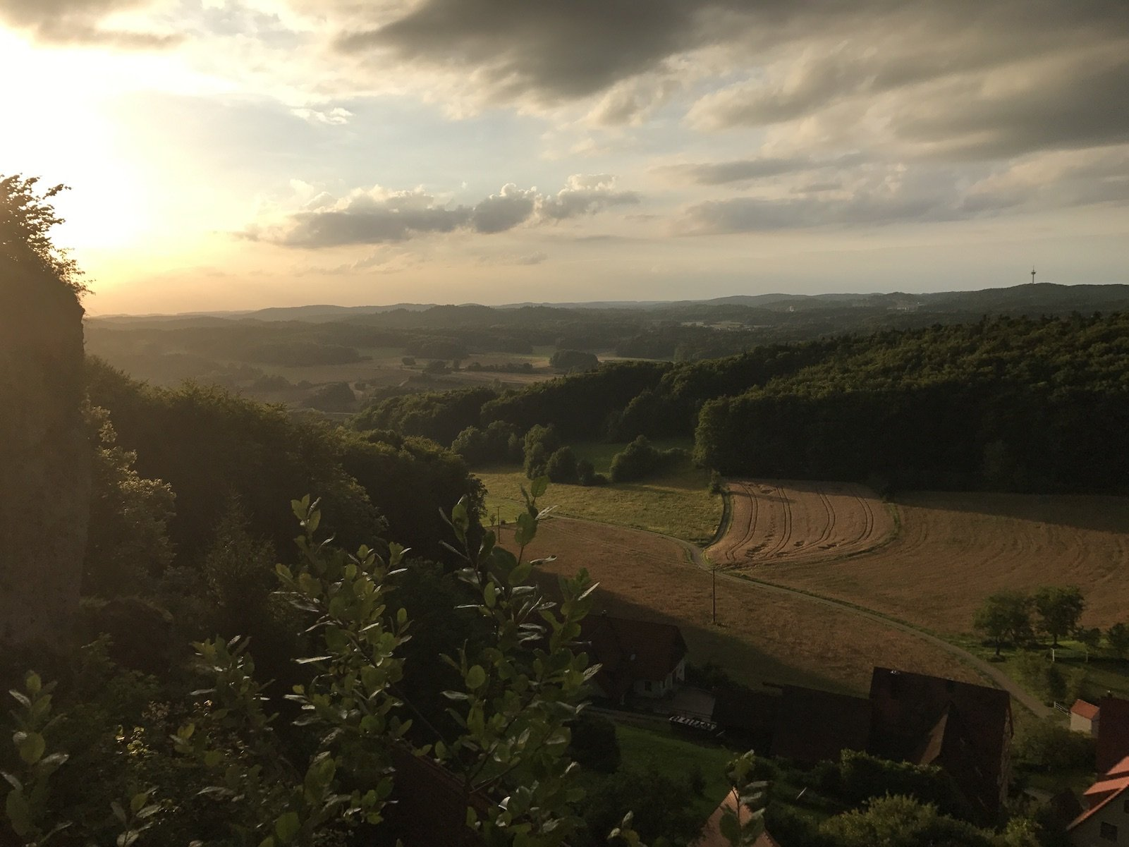 Sonnenuntergang auf der Burg Hohenstein
