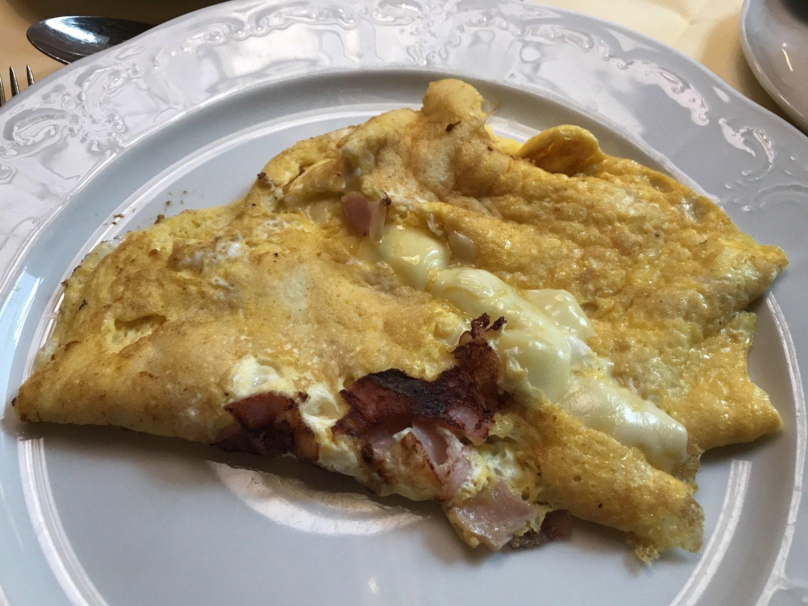 Frisch zubereitetes Omelette