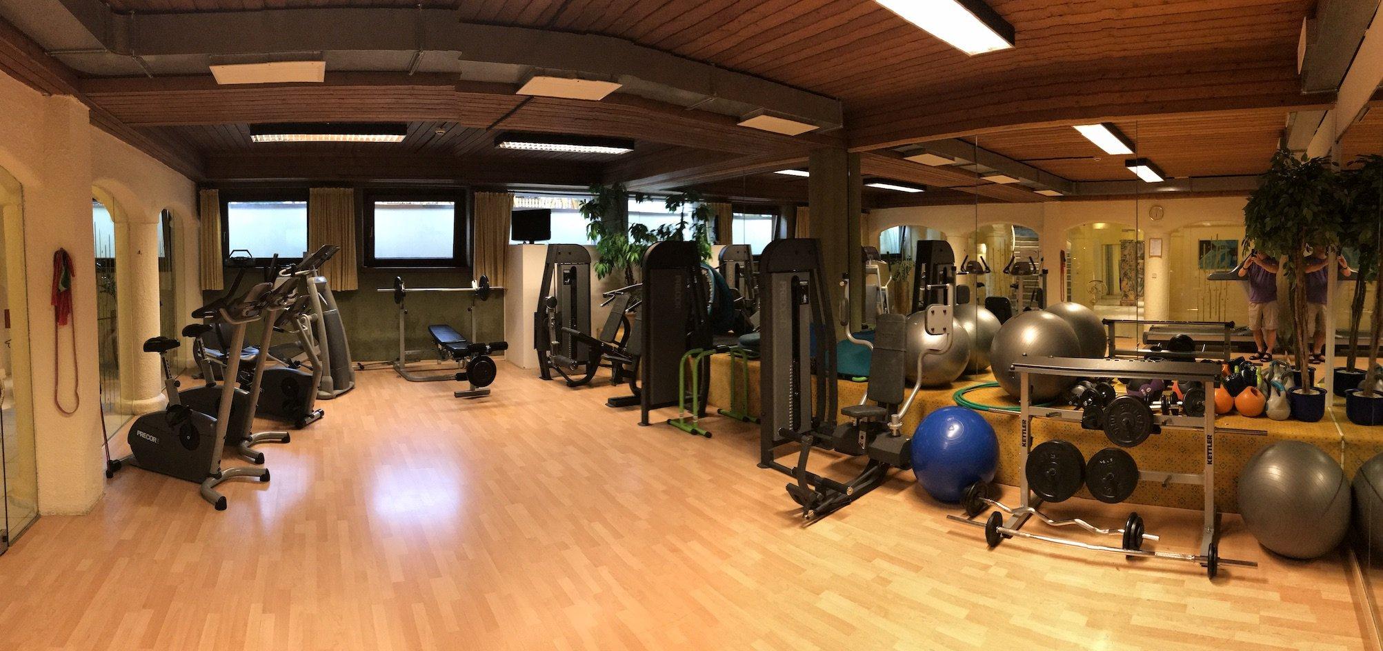 Fitnessraum im Hotel Pulverer