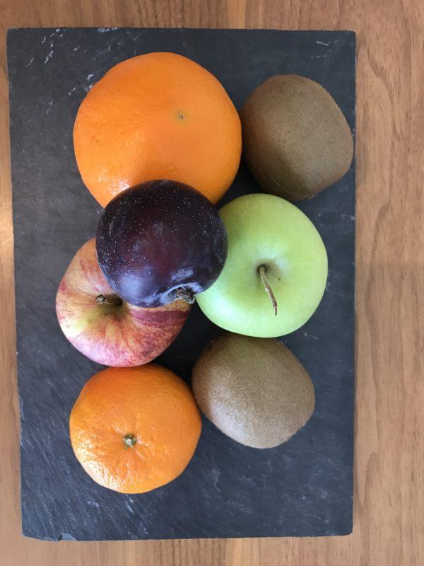 Obstteller zur Begrüßung
