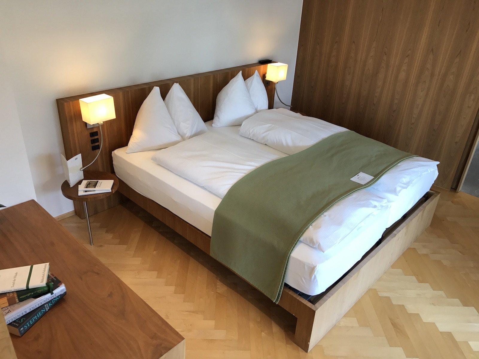 Schlafzimmer in der Spa Suite