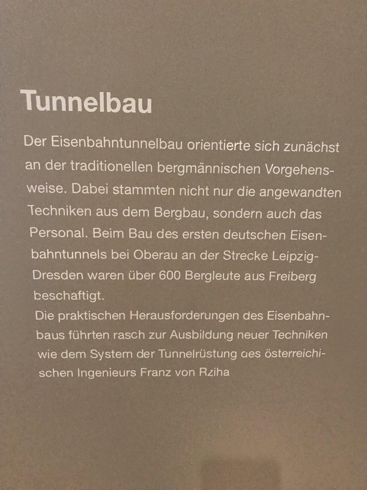 Information zum Tunnelbau bei der Bahn