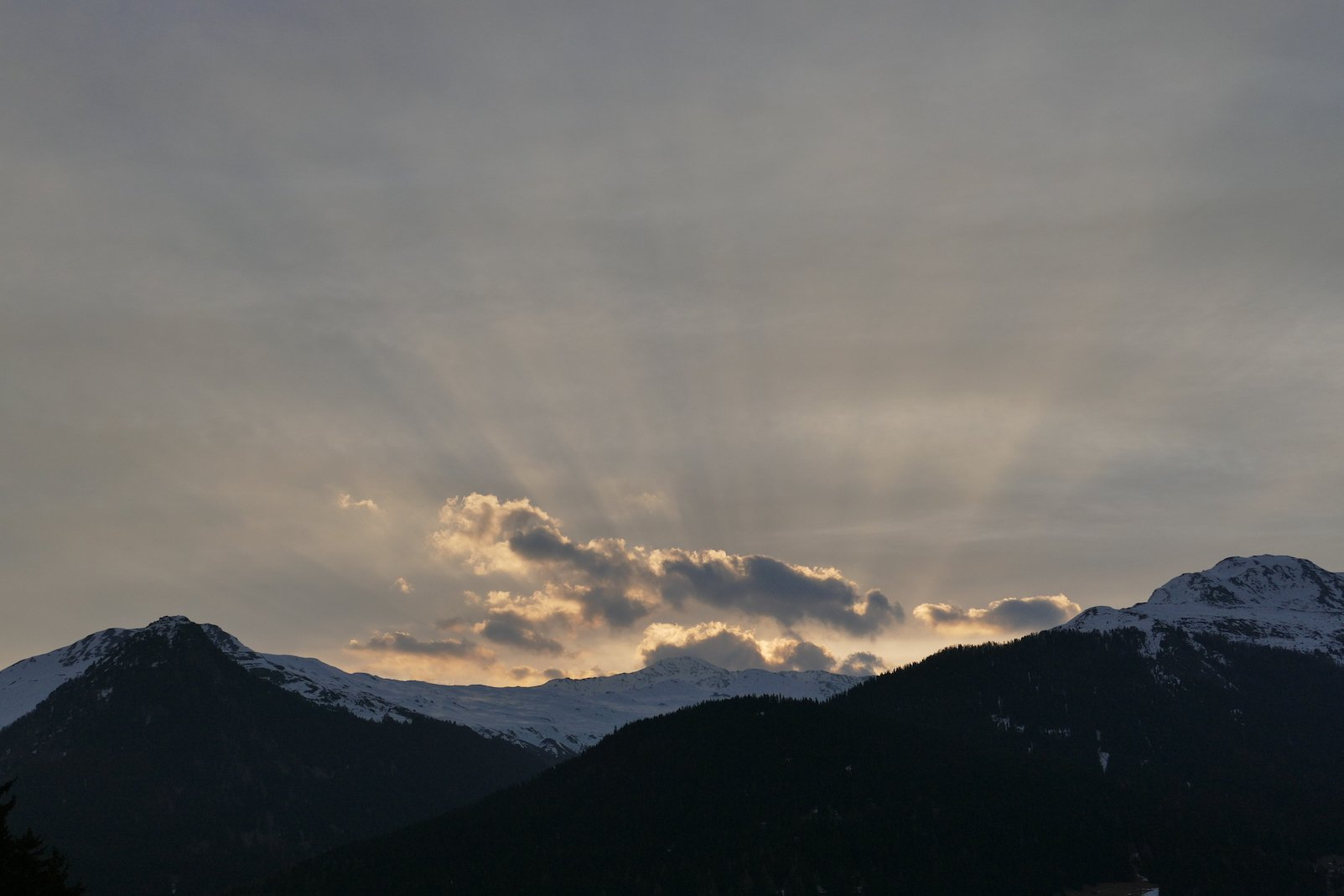 Sonnenaufgang in Davos