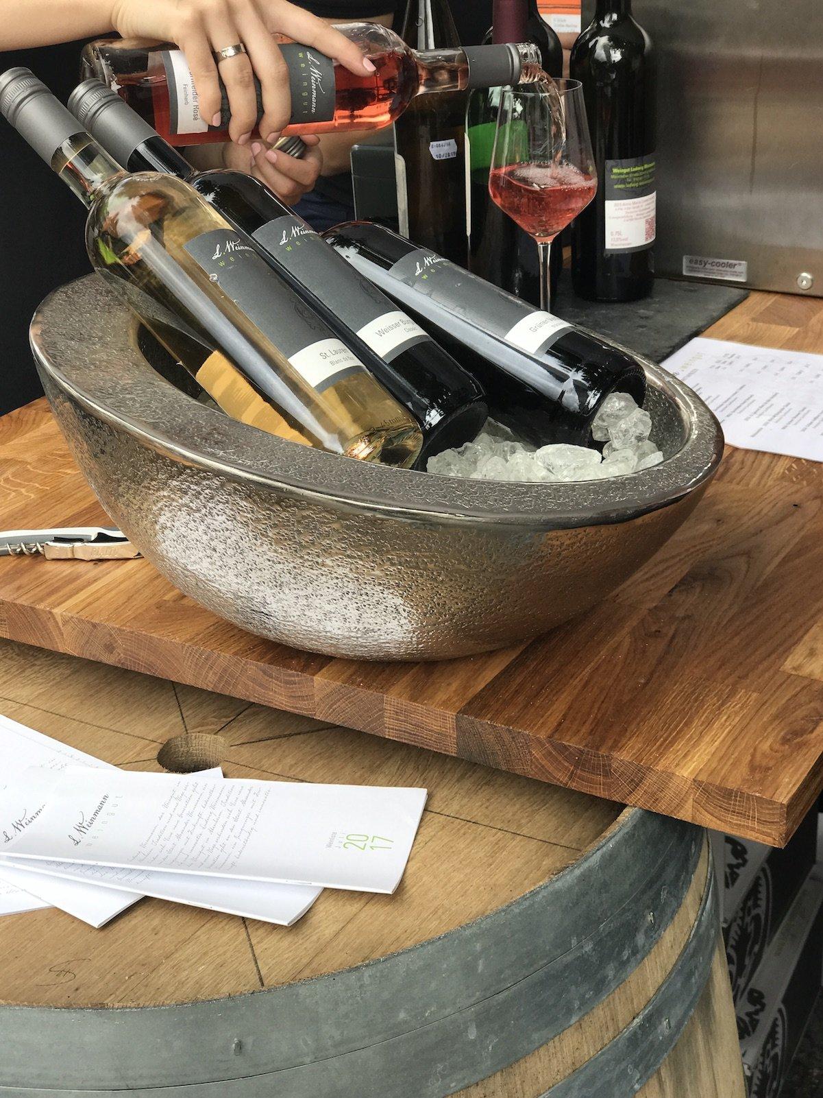 Ein paar der Weine des Weinguts Weinmann, Worms-Abenheim