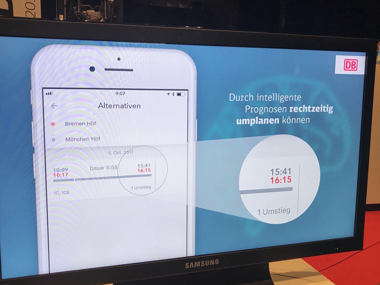 Neue Anzeige im DB Navigator und auf allen anderen Plattformen