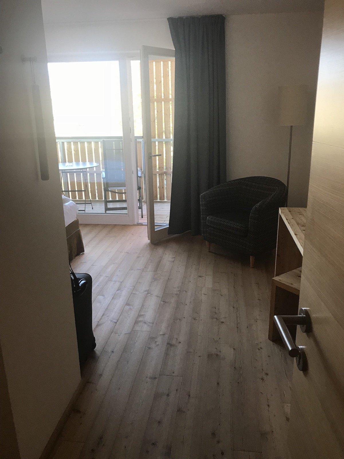 Der erste Blick in mein Doppelzimmer Deluxe im Gourmet - Boutique Hotel Tanzer in Südtirol