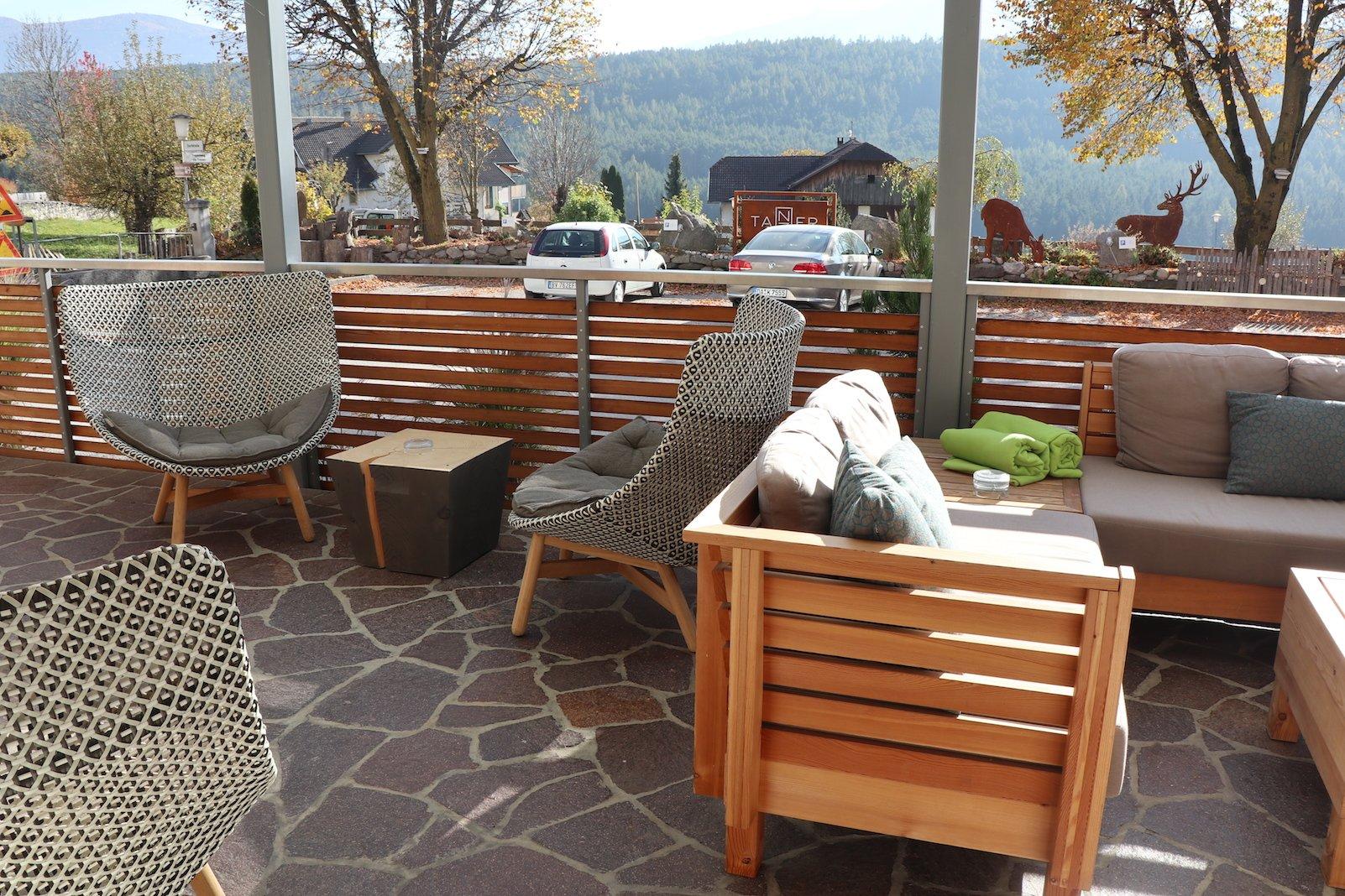 Terrasse im Hotel Tanzer