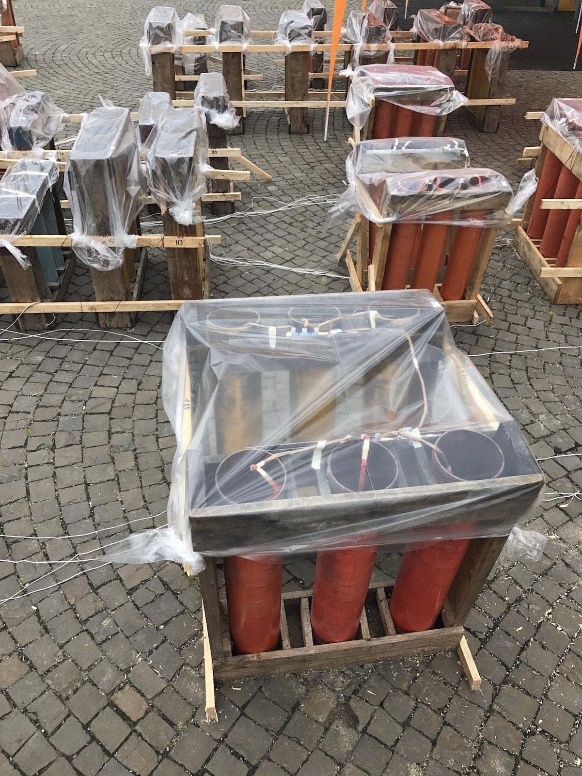 In Folien eingepackt zum Schutz