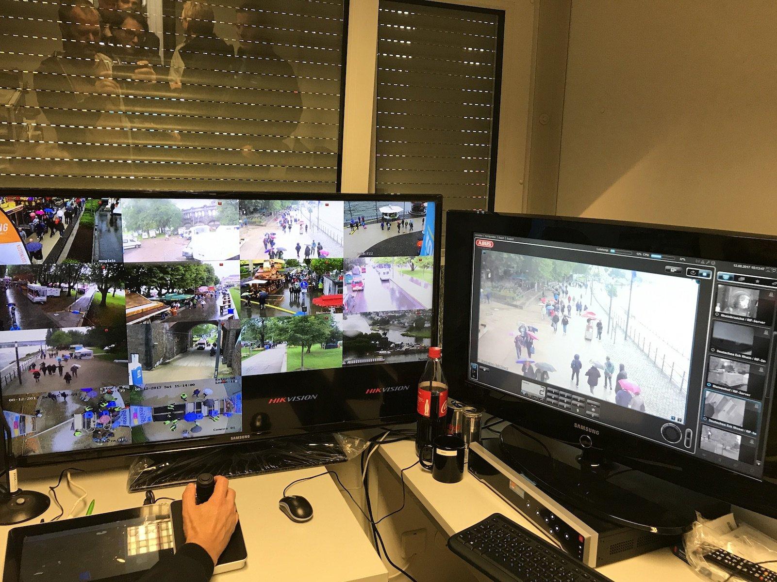 Videoüberwachung beim Sommerfest in Koblenz 2017