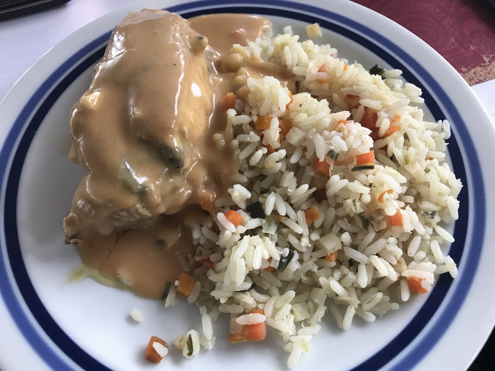 Hauptspeise: Huhn mit Reis