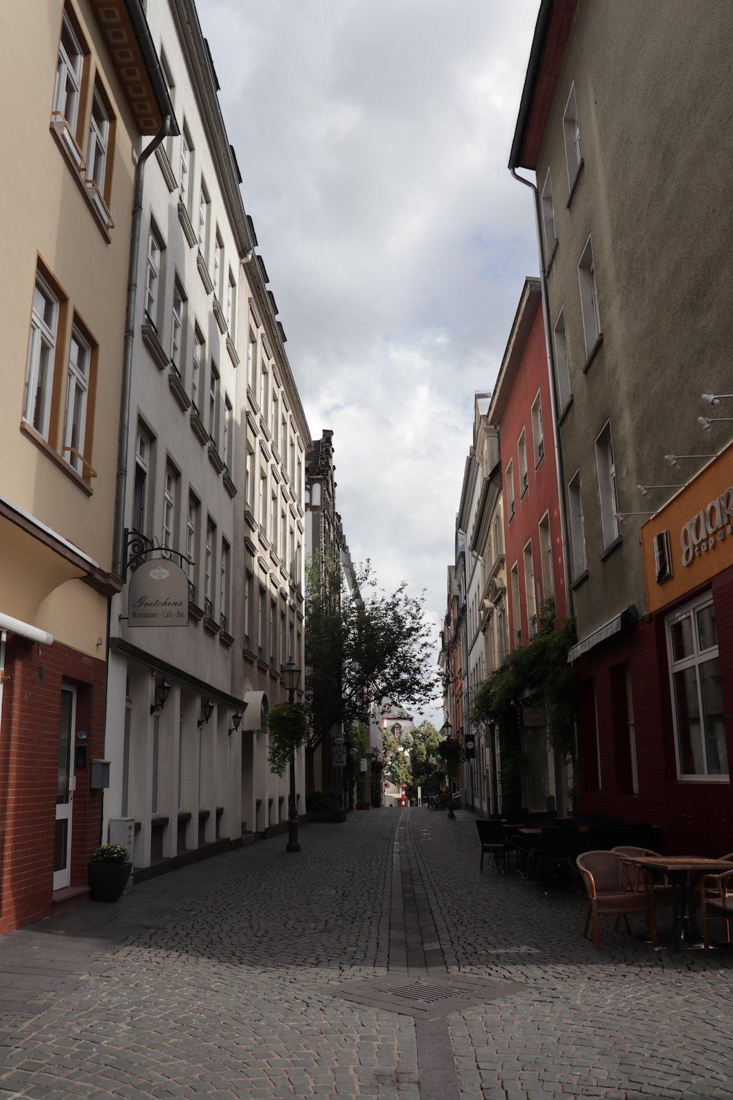 Eine der Gassen von Koblenz