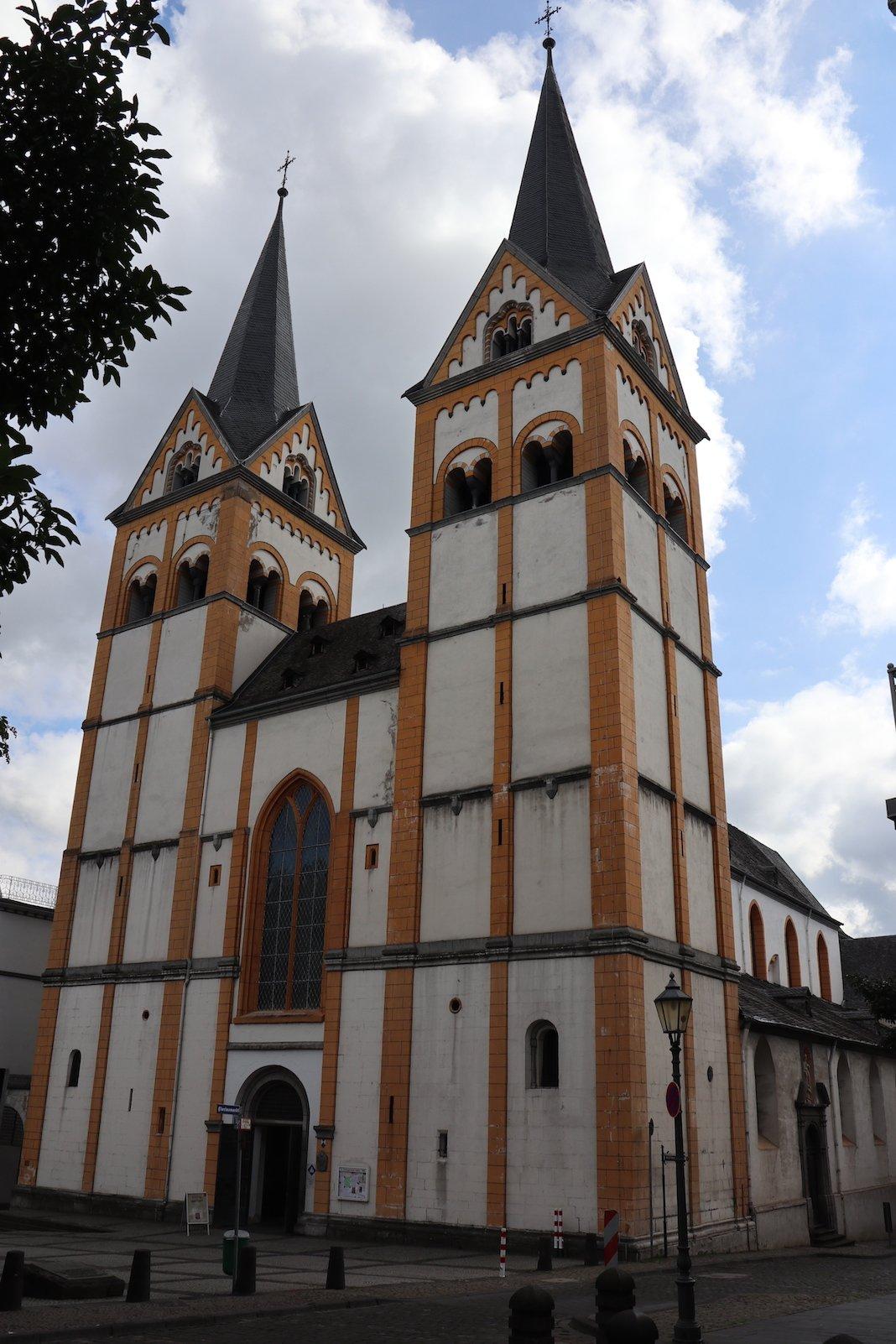 Die Florinskirche in Koblenz von außen