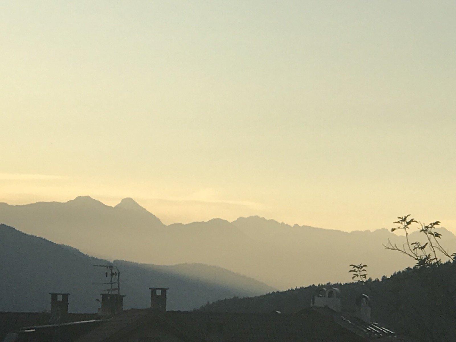 Sonnenuntergang auf der Terrasse des Hotels Tanzer mit dem iPhone7plus