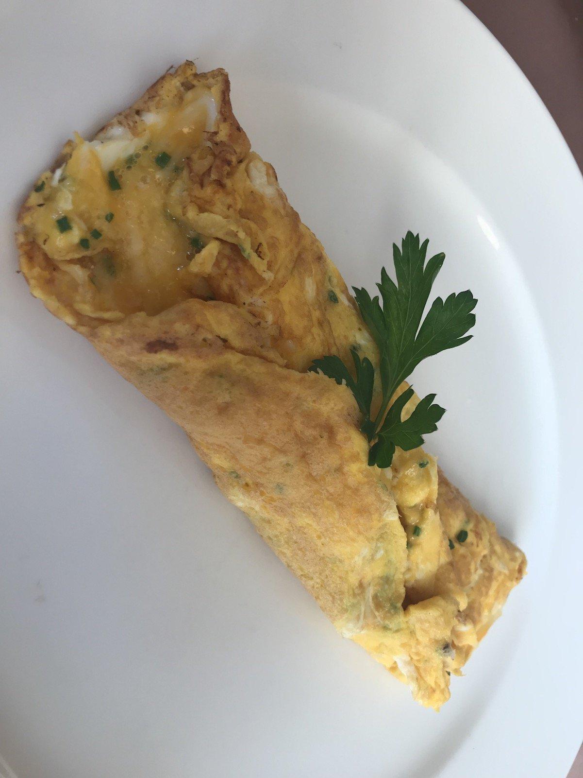 Omelette mit Parmesankäse