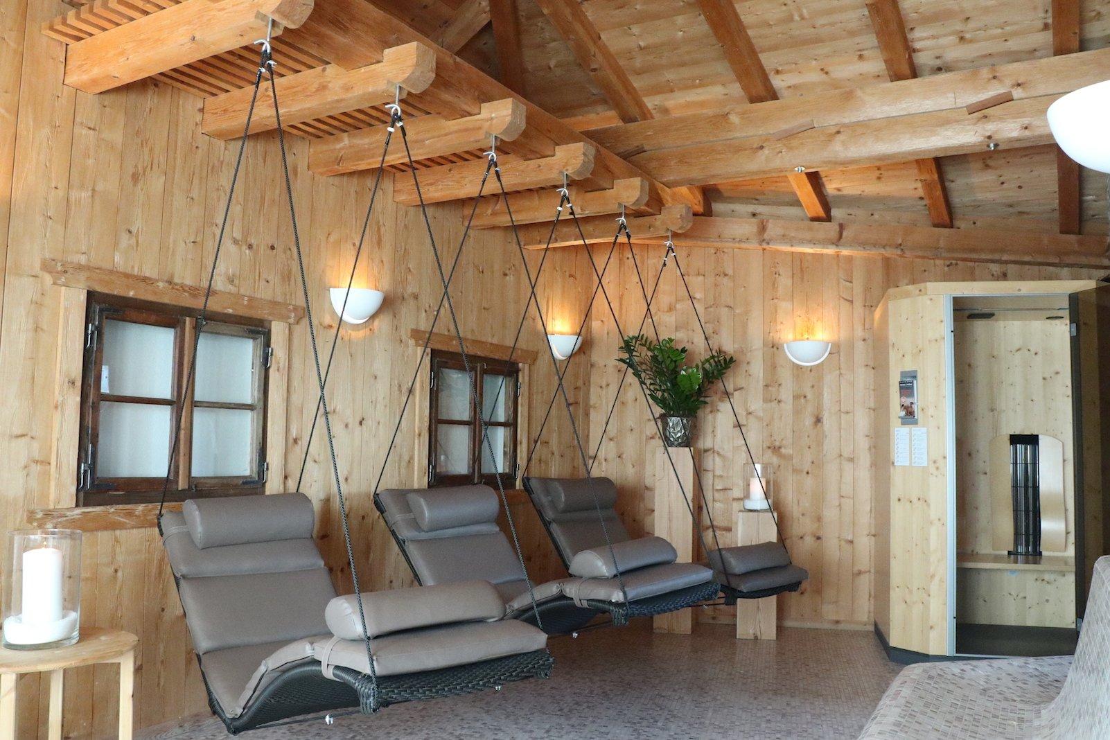 Hängeliegen - da willste nicht mehr Aufstehen im SPA Bereich des Hotels Tanzer in Issing