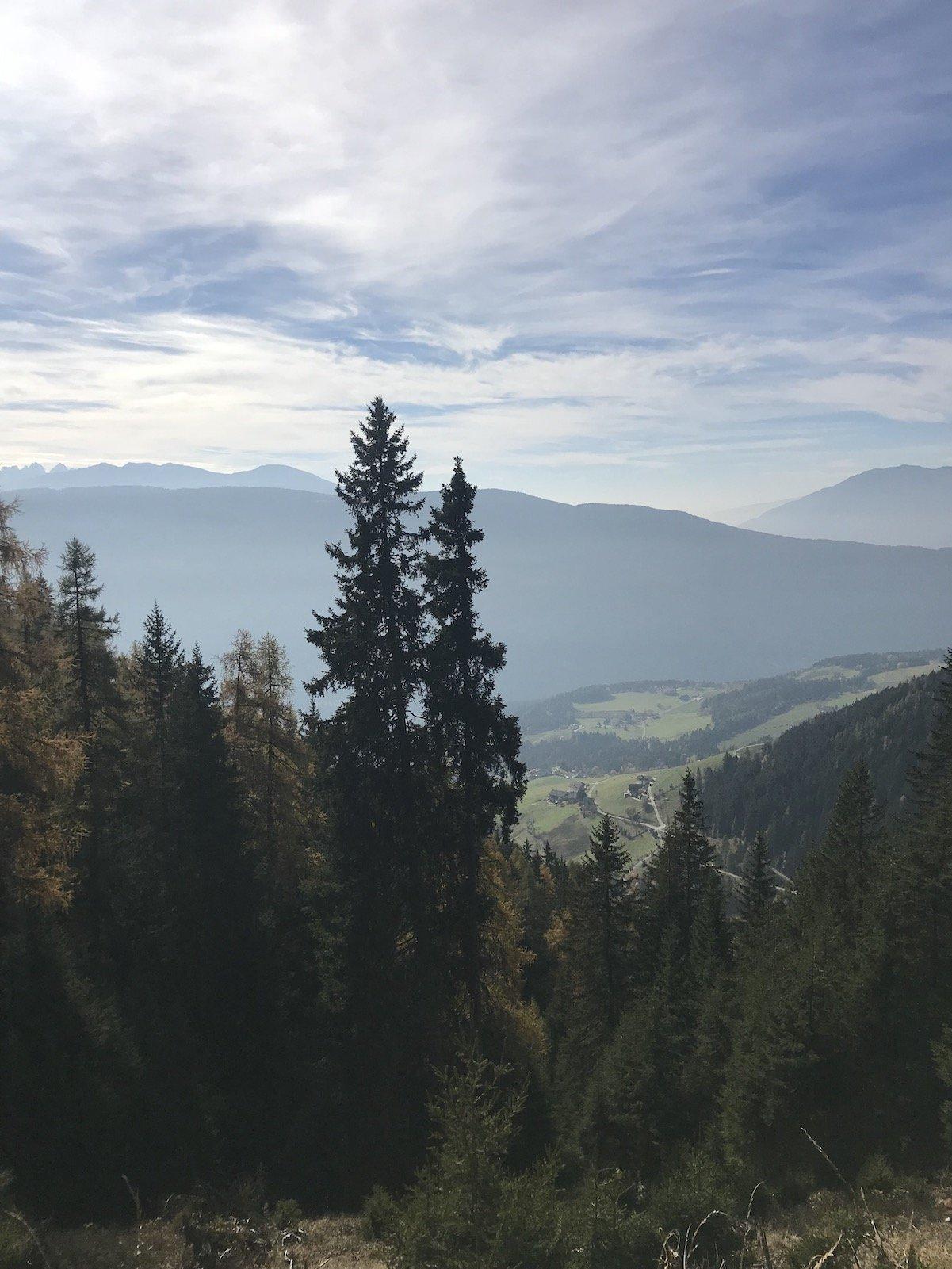 Nochmal ein Blick zurück in das Tal aus dem ich komme