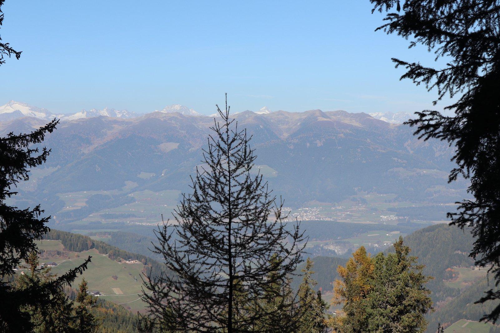 Links an dem Baum etwa in der Mitte Issing, rechts vom Baum Pfalzen