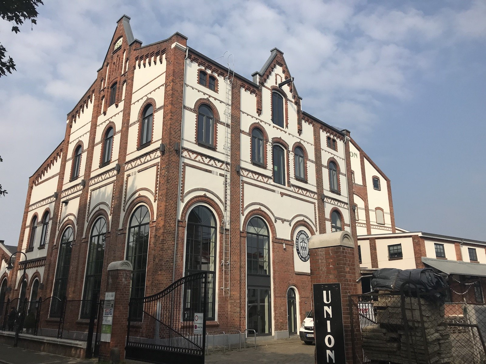 Außenansicht der Bremer Union Brauerei