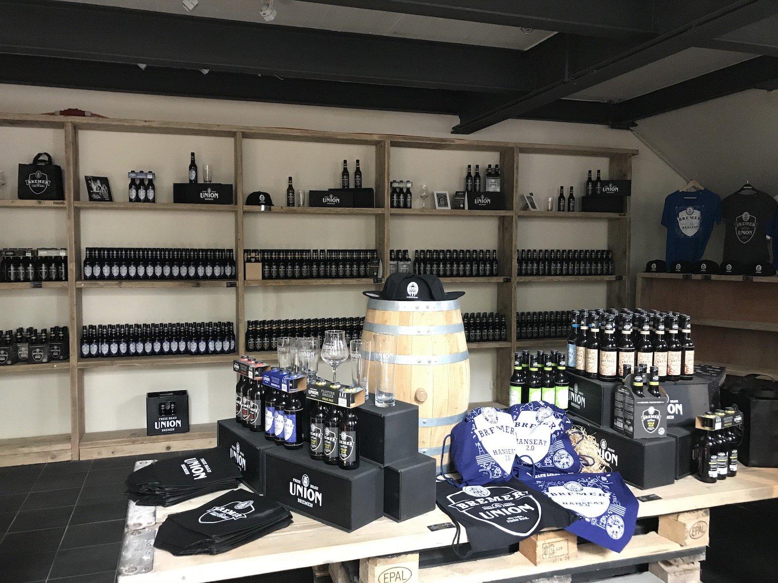 Shop bei der Bremer Union Brauerei